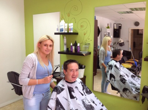 Time for a hair cut! Language Barrier was a problem which had me worried for a while. Ha