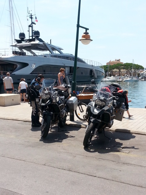 They like their boats on the Riviera! See our bikes aren't that big (compared to the boat).