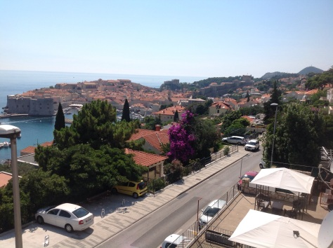 A view from our the accomodation of the Old Town