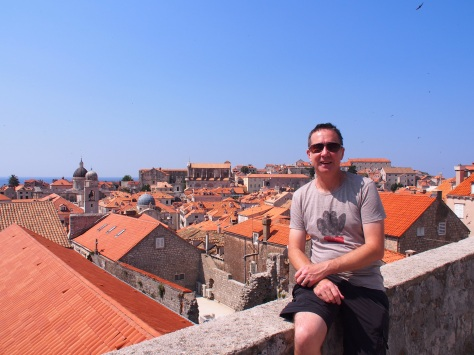 Taking time out looking over the Old City Walls