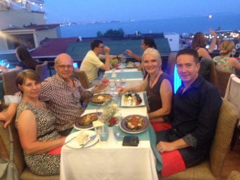 Dinner overlooking Istanbul