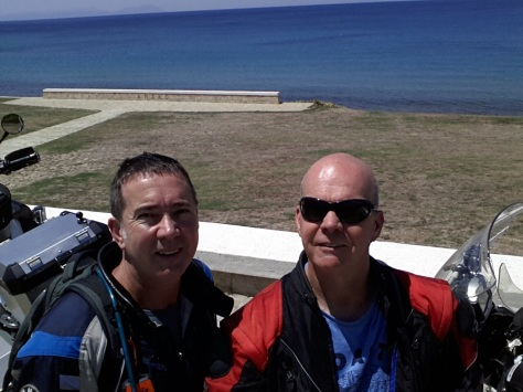 David & Steve at the ANZAC Memorial site on the coast. Moving!