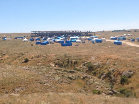 We are staring to see Gypsy camps by the road side. Another sign of the changes.