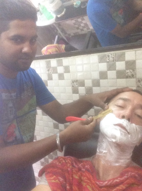 Time for a hair cut and shave in Amritsar