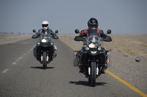 Riding the deserts of Pakistan. Hot!