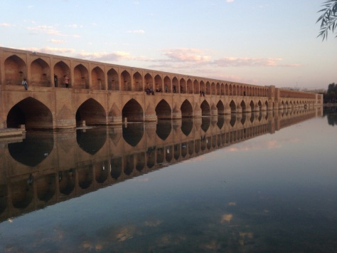 One of the several historic and beautiful bridges of Esfahan