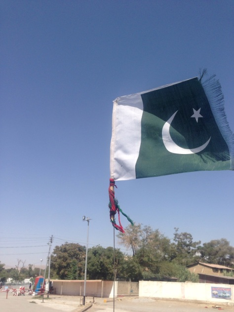 A Pakistani flag flying high