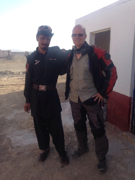 Steve and his new friend at the Pakistan boarder