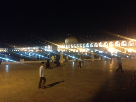 Qum town Centre by night