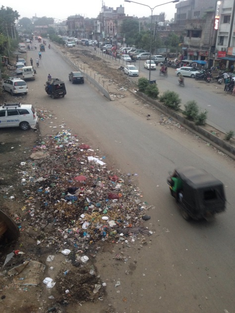 Amritsar and the also typical piles of rubbish which needs to change.