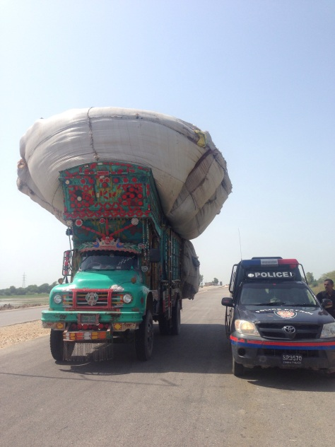 A typical truck and its load in Pakistan defying physics
