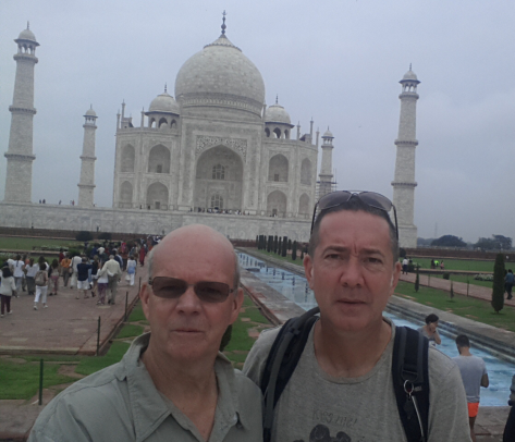 The two of us taking in the Taj!