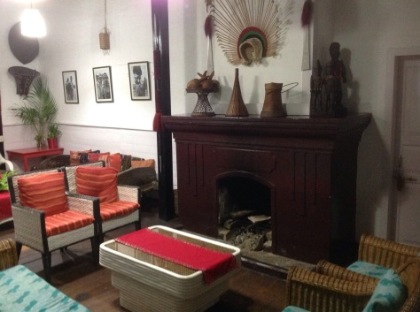Traditional Nagaland people's artifacts in a traditional colonial house we stayed at
