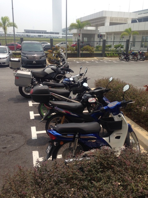 Check the difference in size between the local bikes and the BMW