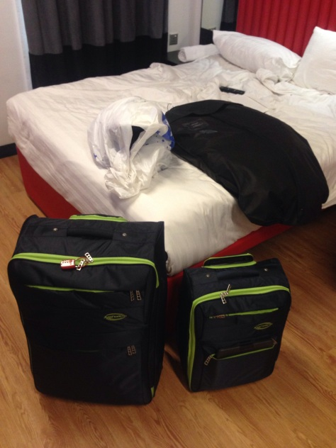 My bags are packed ready for my flight back to Sydney