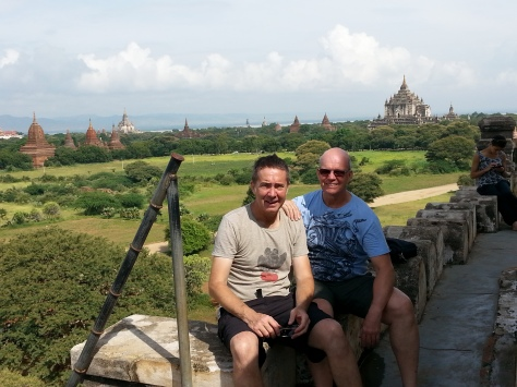 Steve and I atop one of the many temples